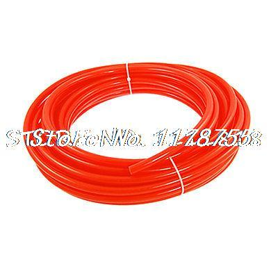 10mm OD 6.5mm ID 1.75mm Wall Thickness PU Tube Pipe Hose 15M Orange Red<br>