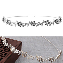 1 PC Women Wedding Bridal Crown Silver-plated Rhinestone Tiaras Headband Hair Band Accessories