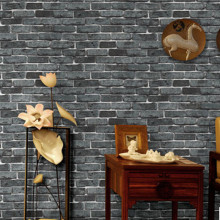 Factory outlet thickening imitation brick waterproof Wall Stickers bakery hotel coffee shop store commercial space wallpaper