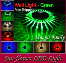 Free Shipping bedroom wall light - Sun Flower LED Light for house decoration - safe & romantic & beautiful(China)