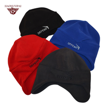 Winter Balaclava Warm Earmuffs M Hats Outdoor Sports Cycling Windproof Caps Ear Protection Knitted Hat Solid Skull Cap(China)
