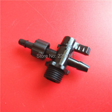 10pcs wholesale UV/solvent printer CISS system ink valve for Flora Aprint Infinity Phaeton sub ink tank valve/ink tube connector