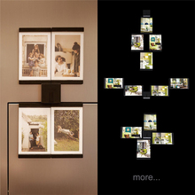 "TTLIFE Decor Home Art Wall 4pcs 4""x6"" Hanging Picture Photo Frames Black Creative DIY Kraft Hanging Photo Frame Birthday Gift"