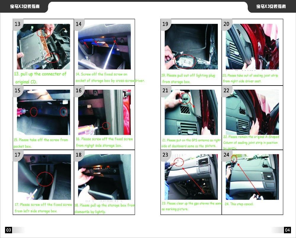 BMW X3 Installation instruction 2