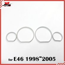 DASH for BMW E46 98 05 Silver Cluster Rings Silver Gauge Rings Silver DASH board Rings(Taiwan,China)