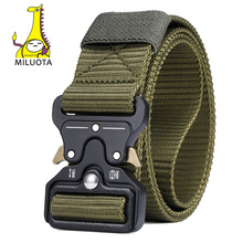 Buy Outdoor Mens Tactical Belt Men Military Nylon Belt multifunctional Training Canvas Combat Belts for $10.97 in AliExpress store