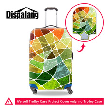 Dispalang 3D printing Marbling protective luggage baggage dust cover for 18-30 inch trolley suitcase portable travel accessories