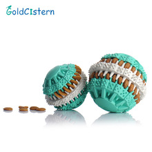 Eco-friendly Rubber Pets Dog Toy Food Leak Toys For Dogs Goods for Dog Pet Training Have Fun Diet Control Dental Massaging Ball(China)