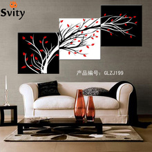 3panels set Canvas painting canvas art Oil Painting Modern happy trees wall pictures for home wall deco No Frame