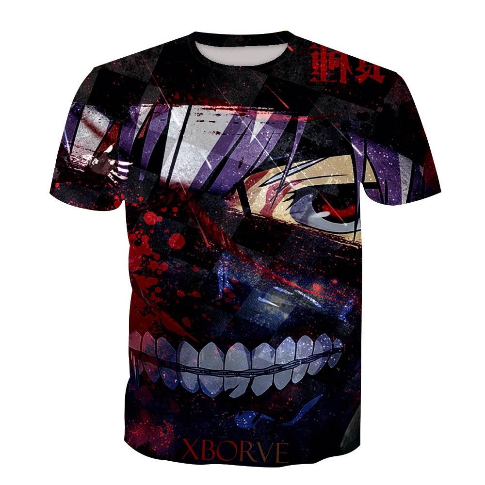 Tokyo Ghoul Ken Kaneki Cosplay T shirt 3D Print T-shirts Men Women Short Sleeve Summer Tees Tops For Halloween Party Luxtees (4)