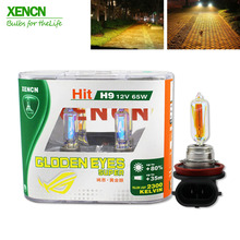 Golden Eyes Automotive XENCN H9 12V 65W 2500K All Season Super Yellow Light Halogen Car Bulbs Head Lamp Free Shipping 2pcs