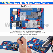 Wozniak Repair for Iphone X Main Board CPU A11 WIFI Baseband IC Remove Glue Cooling Protect tin Positioning Fixture Platform kit(China)