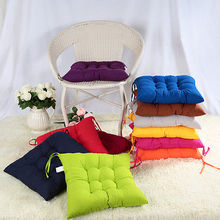 40 x40cm Candy Color Soft Home Office Square Cotton Filling Seat Cushion Buttocks Chair Back Cushion Pads(China)