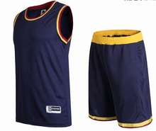 Men basketball jerseys adult  blank basketball sets kits men running kits adult sports vest and shorts sportswear free shipping