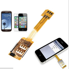 Double Dual SIM Card Adapter MICRO SIM Card extention Sim Adaptor Morecard For iPhone 4/4S Samsung galaxy S3 S4 S5 NOTE 2 3 4