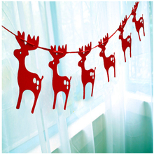 Gold and silver Christmas  Banner Elk New Year holiday decorations banner elk pull Citi dress Christmas party supplies