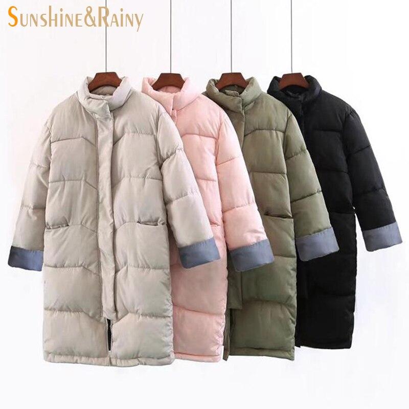 2017 new autumn winter women warm couple wave jackets solid for hooded zipper inside warm printed long warm coats parkasÎäåæäà è àêñåññóàðû<br><br>