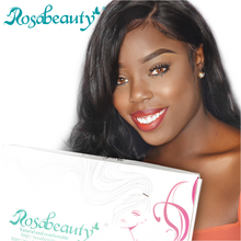 Rosabeauty Pre Plucked 360 Lace Frontal Wig Brazilian Body Wave Human Remy Hair 360 Lace Wigs For Black Women Natural Hairline(China)