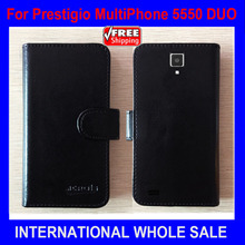 In stock Hot! Prestigio 5550 DUO Case High Quality Fashion Wallet Stand Leather Case for Prestigio MultiPhone 5550 DUO Tracking(China)