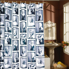 Feiqiong Brand 1.8*1.8m Marilyn Monroe Design Waterproof Shower Curtain 100% thickness Polyester Bath Curtains(China)