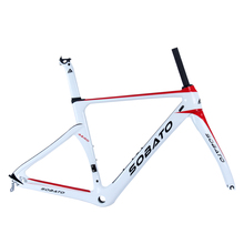 Buy Full Carbon Fiber 700c Road Bike Frame Fork+headset+seatpost Clamp Red White 460/490/520mm RAA for $414.00 in AliExpress store