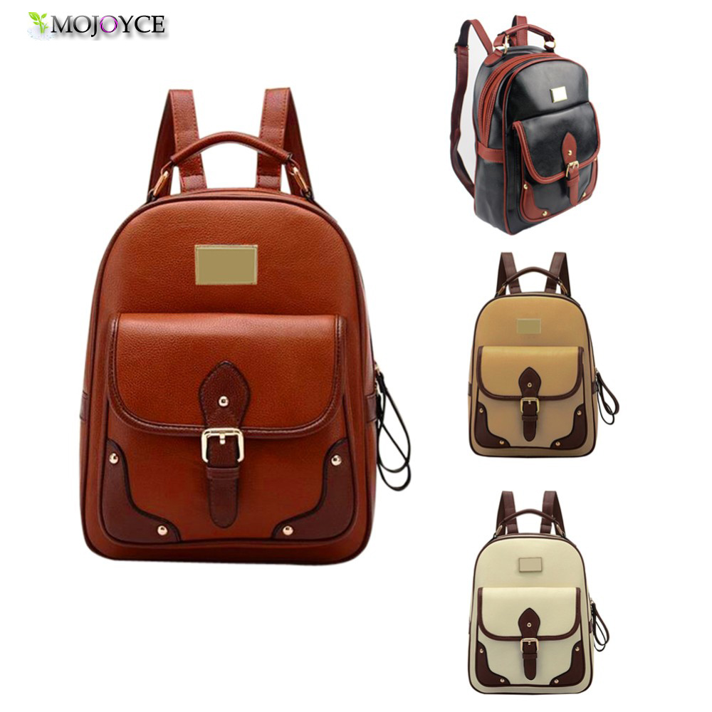 Women Backpack High Quality PU Leather Mochila Escolar School Bags For Teenagers Girls Top-handle Backpacks MOJOYCE Fashion<br><br>Aliexpress