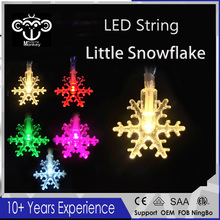 New LED little Snowflak Battery Powered Holiday LED String Lights High quality for Christmas Tree Wedding Party Living Room Dec(Hong Kong,China)