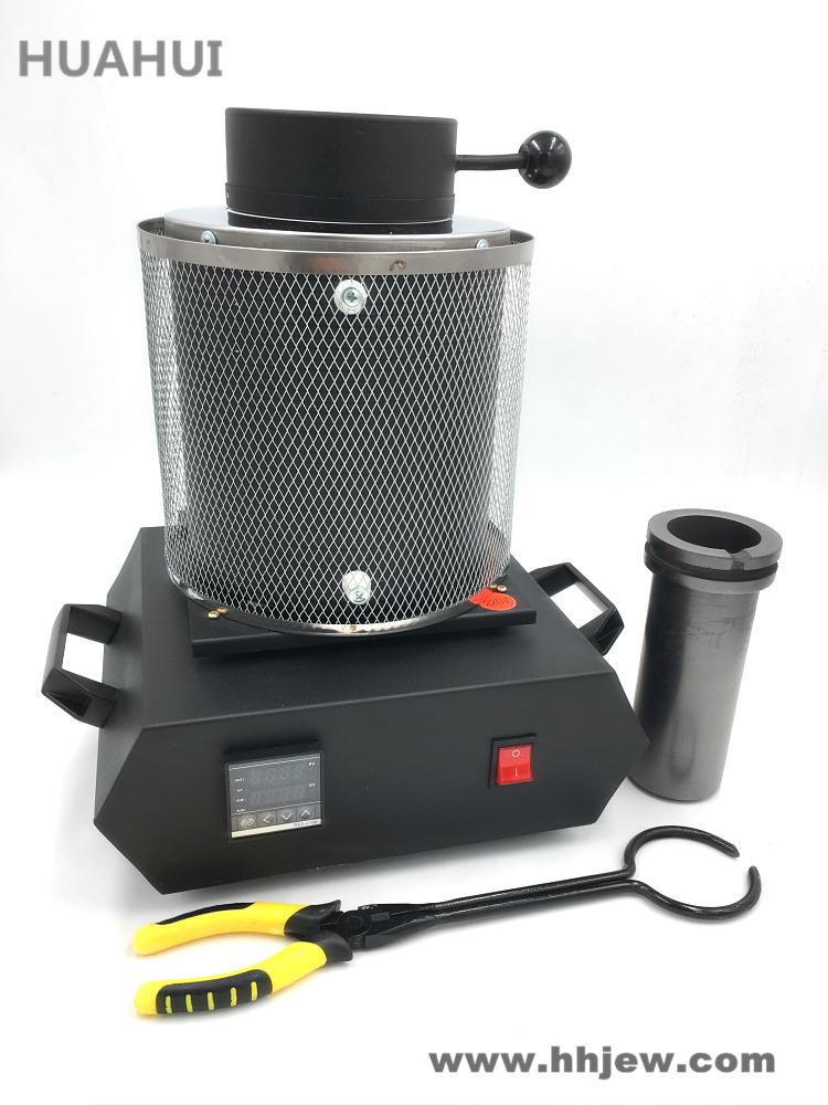Red 2KG DNYSYSJ 1600W Electric Melting Furnace Gold//Silver Melting Furnace for Precious Metals 2-3KG 110V