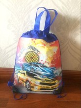 racing car design types cartoon bomb backpack tote toy bag themed birthday party crash shoe Bag non-woven(China)