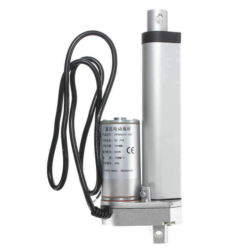 100mm DC 24V 500N 20MM/S Electric Push Rod Actuator Motor Stroke Heavy Duty Motor Accessories Multi-function<br>