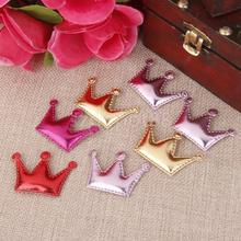 20pcs PU Crown Hair Clips Making For Baby Girls Headband DIY