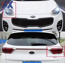AX 2in1 CHROME HEADLIGHT FRONT FOG TAIL LIGHT LAMP TAILGATE TRUCK COVER FIT FOR KIA SPORTAGE QL 2016 2017 TRIM BEZEL MOLDING(China)