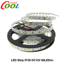 LED Strip 5730 Flexible Light DC12V 60 LEDs/m 5M/Lot, 5730 Strip Brighter Than 5630/5050/3528 Strip.