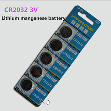 High quality 5 PCS/LOT CR2032 button cell battery 3 v lithium battery is suitable for toys, electronic products(China)
