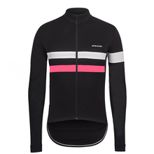 2017 NEW BLack Pink High visibility winter long sleeve Jersey High visibility Reflective thermal fleece jersey chest zip pocket