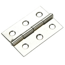 "JETTING Top Quality 10 Sets Stainless Steel Cabinet Door Hinge 6 Holes Boat Marine Cabinet Butt Hinge 2"" With Screws 5 x 1.5 cm"