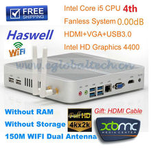 Cheap Mini PC i5 Computer New Haswell Processor Intel Core i5 4200U HTPC Support Windows Linux XBMC 4K HD DHL Free Shipping(China)