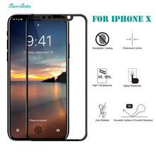 MicroData 5D Full Cover screen saver guard glass Film guard curved Tempered Glass Screen Protector for iphone X 6 6s 7 plus
