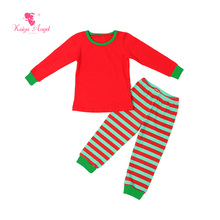 2017 Kaiya Christmas Toddler Kids Wholesal Fall Girls Boys Striped Boutique Outfits Clothes Birthday Gift Party Baby Pajamas Set
