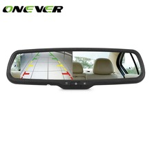 "ONEVER 4.3"" TFT LCD Car Rearview Back up Mirror Monitor Screen for Rear View License Plate Backup Camera for Most Car Model(China)"