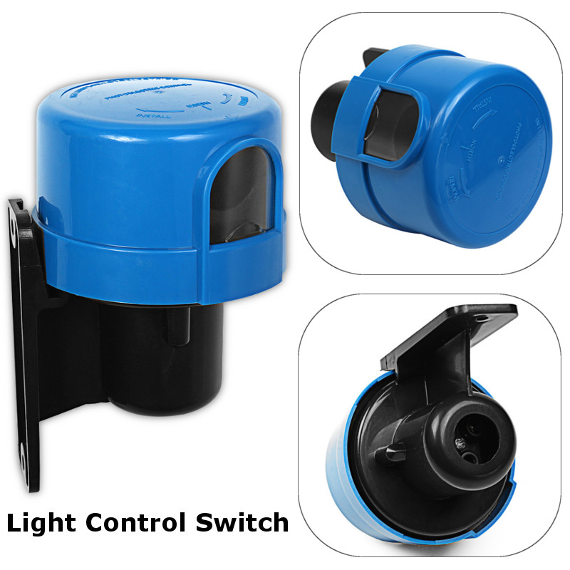 2018 10a Photocell Outdoor Light Control Switch Photoelectric Sensor ...