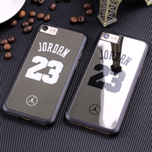 Fashion Chicago Bulls Michael Jordan Hard Plastic Case For iphone 7 Plus Back Cover Slim Mirror Phone Cases for iphone 7 Plus