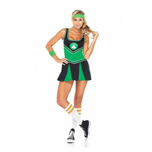 Women's Sexy Boston Celtics Cheerleader Costume For Football cosplay gioco vestito esotico abbigliamento ds dress