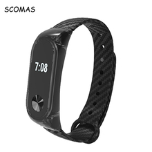 Buy SCOMAS Crystal Carbon Fiber Straps MI Band 2 Smart Wristband Belt Xiaomi MiBand 2 Silicone Strap Xiaomi Band 2 Strap for $2.63 in AliExpress store