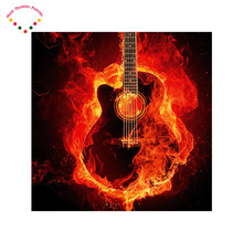 5d diy magic diamond painting guitar team badge football painting drilling round diamond embroidery cross stitch fc utrecht az(China)