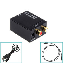 EDD Digital Optical Toslink SPDIF Coax Coaxial to Analog L/R RCA Audio Signal Converter Adapter