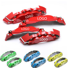 KUNBABY 4PCS Aluminum Alloy Universal Car Auto Disc Brake Caliper Covers Front And Rear RD 19cm + 24cm Fit For 14-17inch Wheel