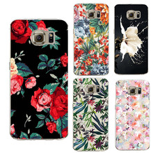 Flowers Case transparent For Samsung Galaxy S3 S4 S5 S6 S7 Edge S8 Plus A3 A5 2016 2017 J1 J2 J3 J5 J7 Grand Prime Fundas