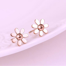 VOGUESS Cute Stud Earring Daisy Flower Earring Titanium for Women Girls Brincos Jewelry of High Quality