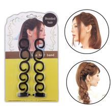 2Pcs/set French Hair Braiding Tool Hair Twist Braider with Hook Hair Edge Twist Curler Styling Tool DIY Accessories(China)
